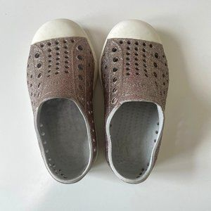 Native Jefferson Water Shoe Loafer Metallic Vented Shiny Glitter